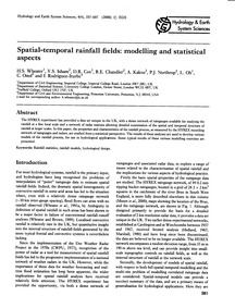 Spatial-temporal Rainfall Fields: Modell... by Wheater, H. S.