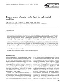 Disaggregation of Spatial Rainfall Field... by MacKay, N. G.