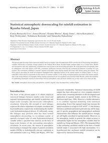 Statistical Atmospheric Downscaling for ... by Bertacchi Uvo, C.
