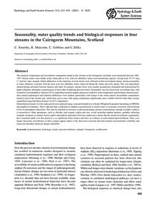 Seasonality, Water Quality Trends and Bi... by Souls, C.