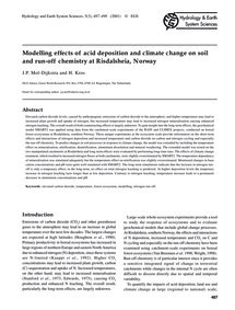 Modelling Effects of Acid Deposition and... by Mol-dijkstra, J. P.