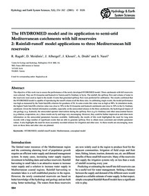 The Hydromed Model and Its Application t... by Ragab, R.