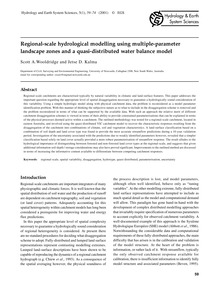 Regional-scale Hydrological Modelling Us... by Wooldridge, S. A.