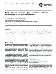 Simple Sensors to Achieve Fine Spatial R... by Konukcu, F.