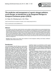 The Prediction and Management of Aquatic... by Wade, A. J.