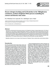 Excess Nitrogen Leaching and C/N Decline... by Whitehead, P. G.