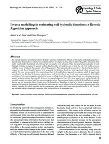 Inverse Modelling in Estimating Soil Hyd... by Ines, A. V. M.