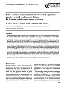 Effect on Nitrate Concentration in Strea... by Ruiz, L.