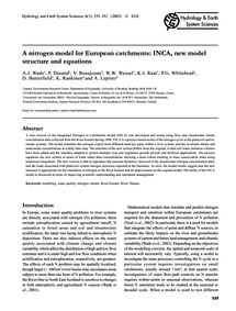 A Nitrogen Model for European Catchments... by Wade, A. J.