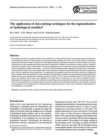 The Application of Data Mining Technique... by Hall, M. J.