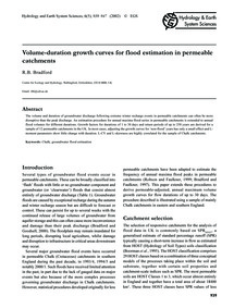 Volume-duration Growth Curves for Flood ... by Bradford, R. B.