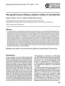 Site-specific Features Influence Sedimen... by Defew, E. C.