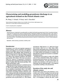 Characterising and Modelling Groundwater... by Weng, Ph.