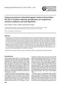 Long-term Patterns in Dissolved Organic ... by Hudson, J. J.