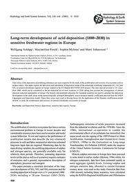 Long-term Development of Acid Deposition... by Schöpp, W.