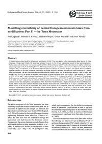 Modelling Reversibility of Central Europ... by Kopácek, J.