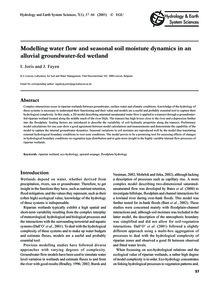 Modelling Water Flow and Seasonal Soil M... by Joris, I.