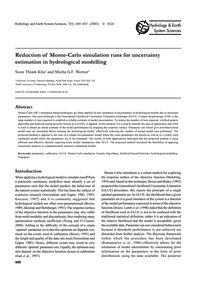 Reduction of Monte-carlo Simulation Runs... by Khu, S.-t.