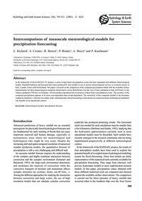 Intercomparison of Mesoscale Meteorologi... by Richard, E.