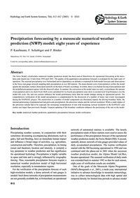 Precipitation Forecasting by a Mesoscale... by Kaufmann, P.