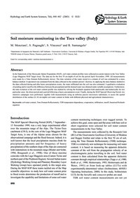 Soil Moisture Monitoring in the Toce Val... by Menziani, M.