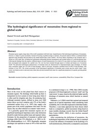 The Hydrological Significance of Mountai... by Viviroli, D.