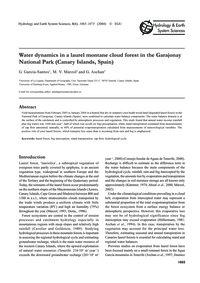Water Dynamics in a Laurel Montane Cloud... by García-santos, G.