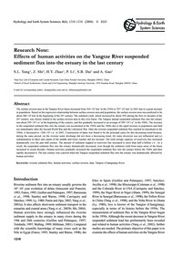 Research Note:Effects of Human Activitie... by Yang, S. L.