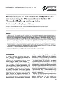 Behaviour of Suspended Particulate Matte... by Baborowski, M.