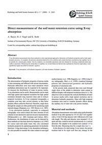 Direct Measurement of the Soil Water Ret... by Bayer, A.
