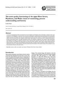 The Water Quality Functioning of the Upp... by Neal, C.