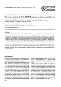 The Water Quality of the Locar Pang and ... by Neal, C.