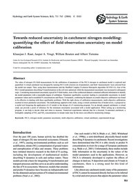 Towards Reduced Uncertainty in Catchment... by Raat, K. J.