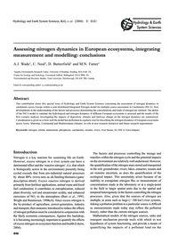 Assessing Nitrogen Dynamics in European ... by Wade, A. J.