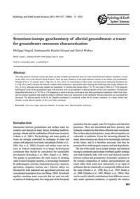 Strontium Isotope Geochemistry of Alluvi... by Négrel, P.
