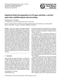 Empirical Mode Decomposition in 2-d Spac... by Sinclair, S.