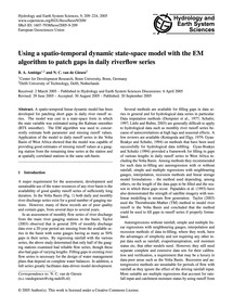 Using a Spatio-temporal Dynamic State-sp... by Amisigo, B. A.