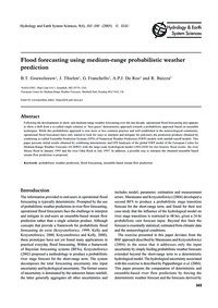 Flood Forecasting Using Medium-range Pro... by Gouweleeuw, B. T.