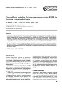 National Flood Modelling for Insurance P... by Sanders, R.
