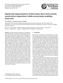 Spatial and Temporal Patterns of Land Su... by McCabe, M. F.