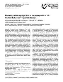 Resolving Conflicting Objectives in the ... by Christofides, A.