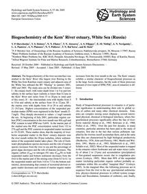 Biogeochemistry of the Kem' River Estuar... by Shevchenko, V. R.