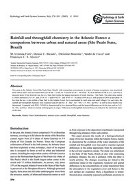 Rainfall and Throughfall Chemistry in th... by Forti, M. C.
