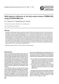 Multi-objective Calibration of the Land ... by Johnsen, K.-p.