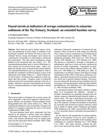 Faecal Sterols as Indicators of Sewage C... by Reeves, A. D.