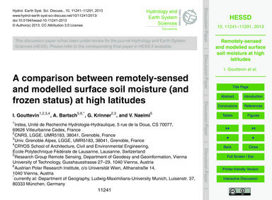 A Comparison Between Remotely-sensed and... by Gouttevin, I.