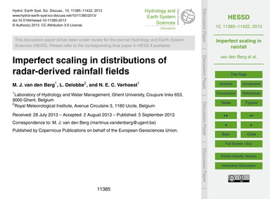 Imperfect Scaling in Distributions of Ra... by Van Den Berg, M. J.