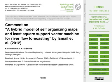 Comment on a Hybrid Model of Self Organi... by Fahimi, F.