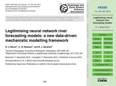 Legitimising Neural Network River Foreca... by Mount, N. J.