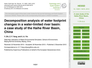 Decomposition Analysis of Water Footprin... by Zhi, Y.